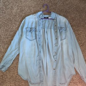 NEVER WORN SMALL BLUE BLOUSE